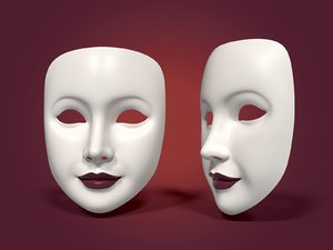 neutral woman mask 3D