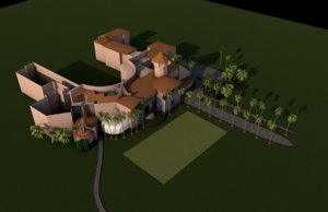 resort mar-a-lago house building 3D model