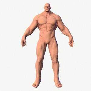 3D model character male hero body