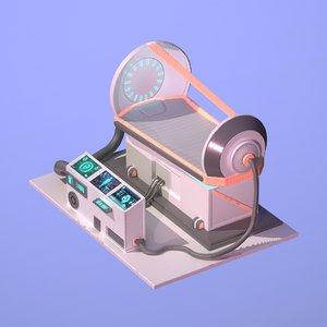 3D sci fi chamber cryo