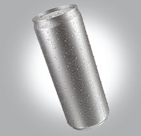 Energetic Beverage Can With Water Droplets 473ml