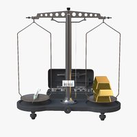 pharmacy scales syringe gold bars model