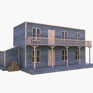 3D western west house