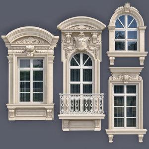 windows style modern classics 3D model