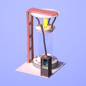 3D model sci fi chamber cryo
