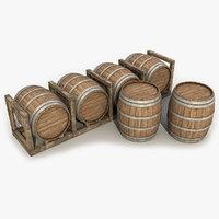 Wooden Barrels 3