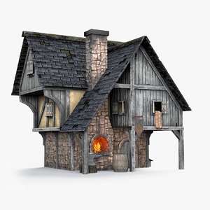 medieval blacksmith forge model
