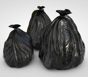 3D garbage bags model