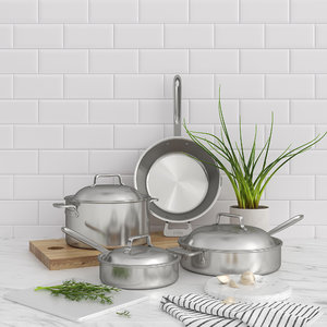 set all-clad cookware 3D model