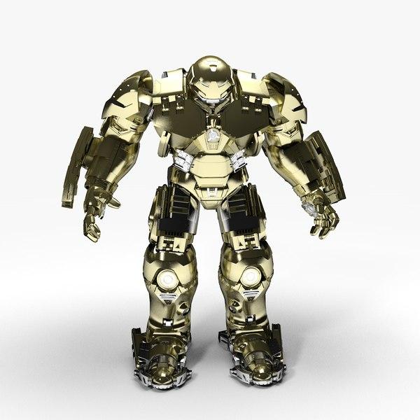 new hulkbuster rigged animate 3D model