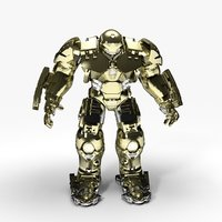 new hulkbuster rigged animate 3D model