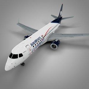 aeromexico embraer190 l568 3D model