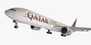 boeing 777-9 aircraft qatar model