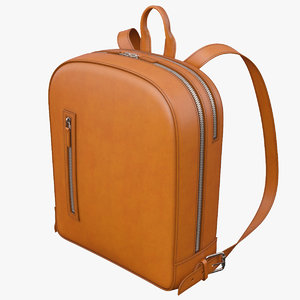 3D leather bagpack