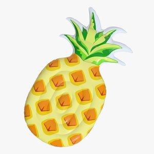 3D model realistic float ring pineapple