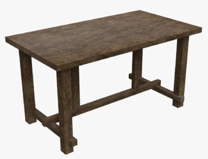 old wooden table 3D model