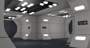 3D model sci fi interior