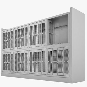 storage shelving weapon 3D model