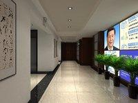 3D hallway chinese national hospital model