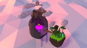 3D floating islands model