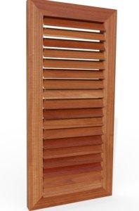 3D model wooden shutter exterior