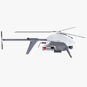 uav drone helicopter 3D model