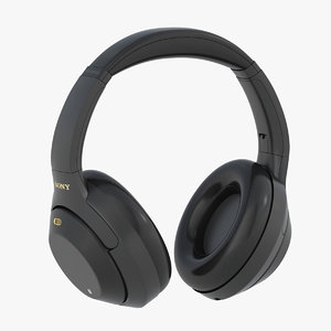 sony wh1000xm3 headphones 3D model