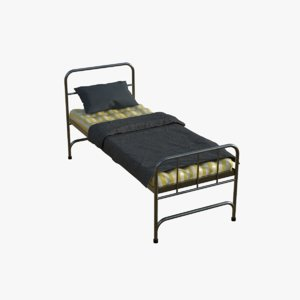 single bed 3D model