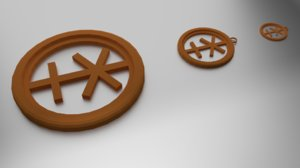 coaster pendant 3D