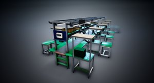 factory inspection table 3D