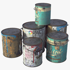 3D painter paint bucket model