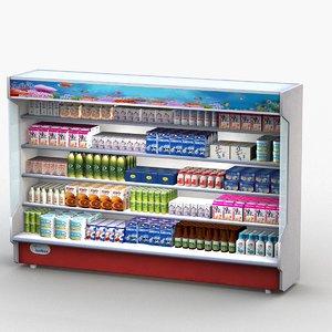 open display refrigerator 3D model
