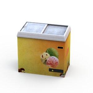 3D ice cream freezer model