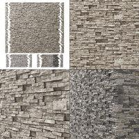 Brick stone wall granite many n3