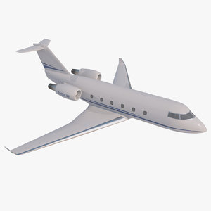 3D generic private jet aircraft