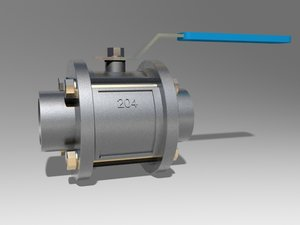 3D model ball faucet