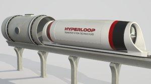 hyperloop train 3D model