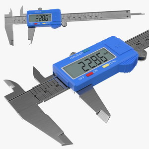 3D lcd digital vernier caliper model