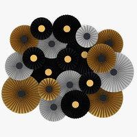 3D black white gold paper