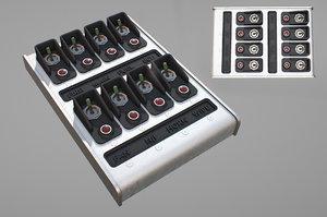 3D control panel model