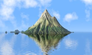 3D model volcano mountains mount taranaki