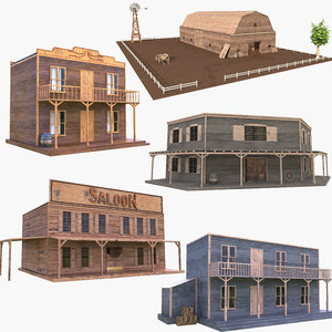 western building house 3D model