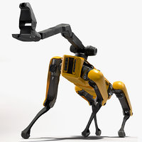 SpotMini Boston Dynamics with Manipulator Rigged for Cinema 4D