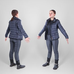 photogrammetry woman style a-pose 3D
