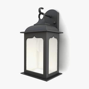 outdoor wall lantern 17 3D model