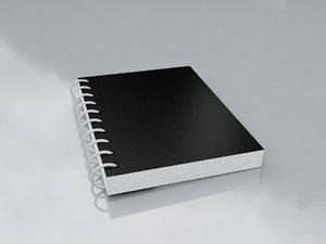 3D small black notepad