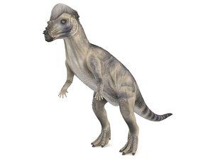 3D model pachycephalosaurus blender v-multi