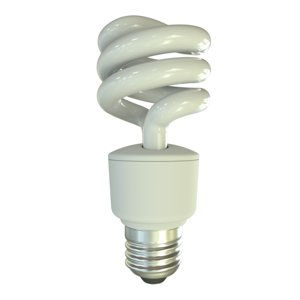 3D fluorescent light bulb