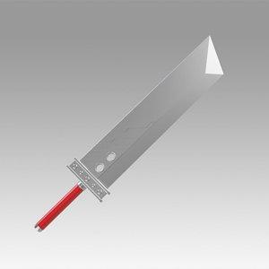 3D sword final fantasy