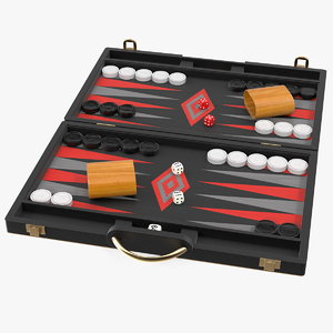 3D black backgammon